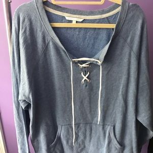 Blue Victoria's Secret sweatshirt XL